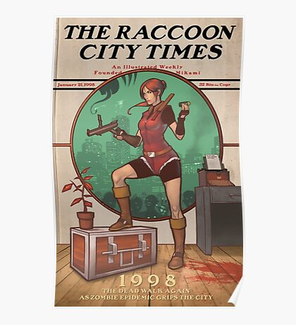 The Raccoon City Times 1998 Poster
