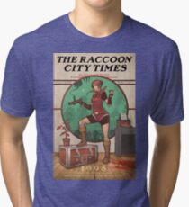 The Raccoon City Times 1998 Tri-blend T-Shirt