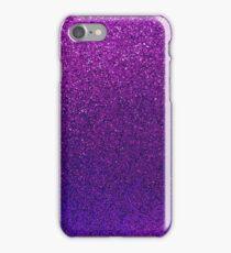 Purple Glitter Paper iPhone Case/Skin