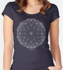 Cluster Blossoms [white design] Women's Fitted Scoop T-Shirt