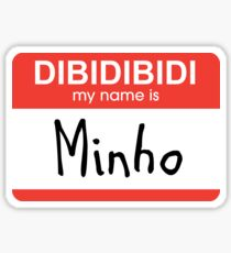 SHINee Minho name tag Sticker