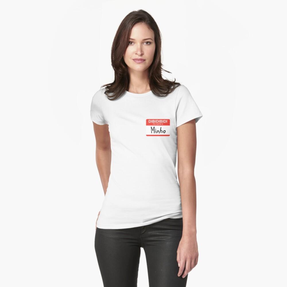 SHINee Minho Namensschild Tailliertes T-Shirt