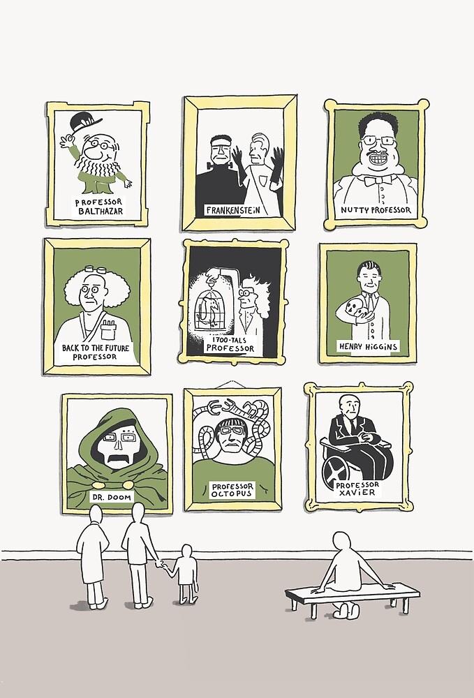 Famous professors by researchcomics