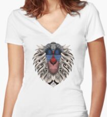 Ornate Rafiki Vol. 2 Colored Women's Fitted V-Neck T-Shirt