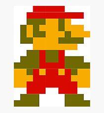 8-bit Mario Photographic Print