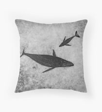 Inner Space (monochrome) Throw Pillow