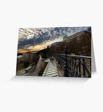Dawn over Buda Castle, Budapest Greeting Card