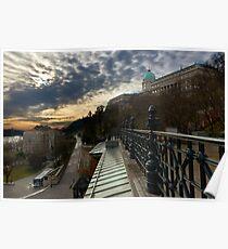 Dawn over Buda Castle, Budapest Poster