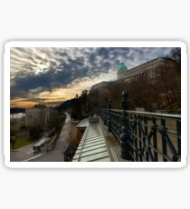 Dawn over Buda Castle, Budapest Sticker