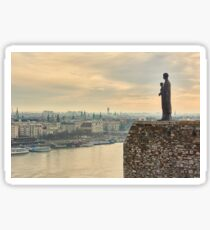 Statue of Virgin Mary above Budapest Sticker