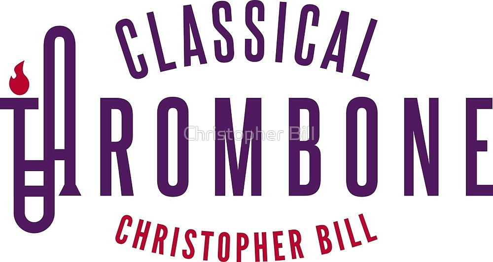 Classical Trombone Full Color Logo by Christopher Bill