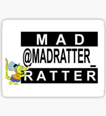 Mad Ratter Parental Advisory (Rectangle) Sticker