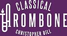 Classical Trombone Full White Logo by Christopher Bill
