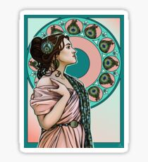 Lady Peahen Sticker