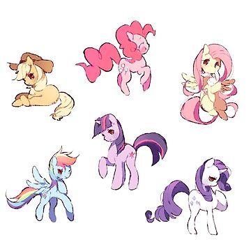 My Little Pony Sticker Batch by Rainbronii