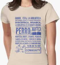La Biblioteca Rap - Community Womens Fitted T-Shirt