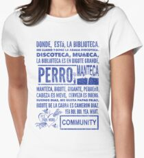 La Biblioteca Rap - Community Women's Fitted T-Shirt