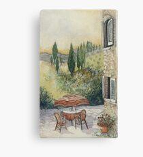 Red Umbrella - Tuscany Canvas Print