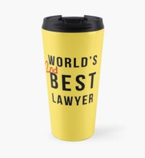 World's 2nd Best Lawyer Travel Mug