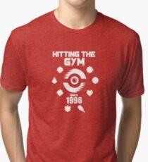 Hitting The Pokemon Gym Tri-blend T-Shirt