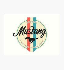 Mustang retro Art Print