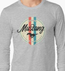 Mustang retro Long Sleeve T-Shirt