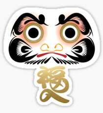 Luck & Good Fortune Daruma Sticker