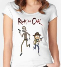 Rick and Carl Women's Fitted Scoop T-Shirt