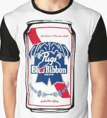 Pugs Blue Ribbon Graphic T-Shirt