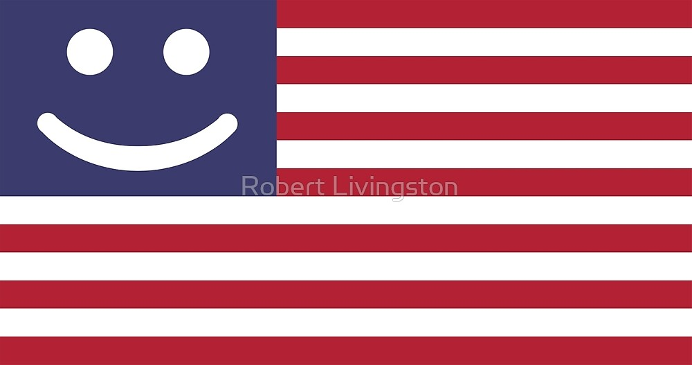 Happy United States of America Flag by Robert Livingston