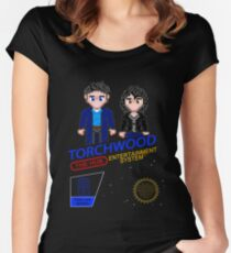 NINTENDO: NES Torchwood  Women's Fitted Scoop T-Shirt