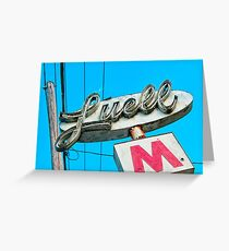 Luell Motel Greeting Card