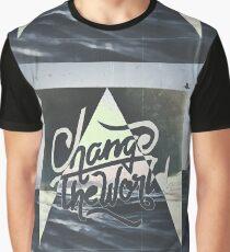 CHANGE THE WORLD ▽ Graphic T-Shirt