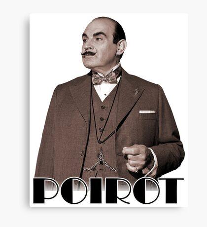 Monsieur Hercule Poirot Canvas Print