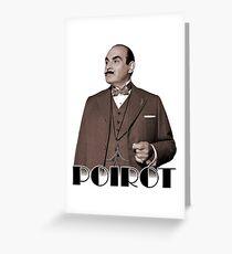 Monsieur Hercule Poirot Greeting Card