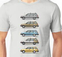 Stack Of Mark's Toyota Tercel Al25 Wagons Unisex T-Shirt