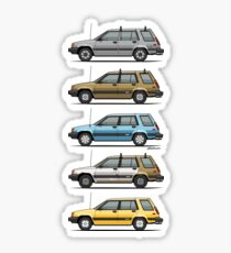 Stack Of Mark's Toyota Tercel Al25 Wagons Sticker