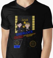 NINTENDO: NES SHERLOCK Men's V-Neck T-Shirt