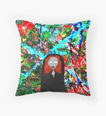 Cartoon Lady Stoneheart Throw Pillow