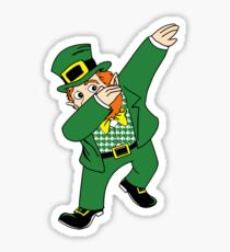 Dabbin' Leprechaun Sticker