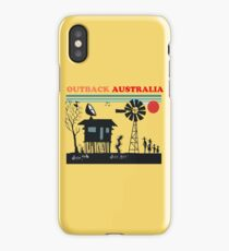Silhouette outback Australia design iPhone Case/Skin