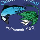 """Salmon Trillium Throwback designed by Vicky """"Ivy"""" Coats by Multnomah ESD Outdoor School"""