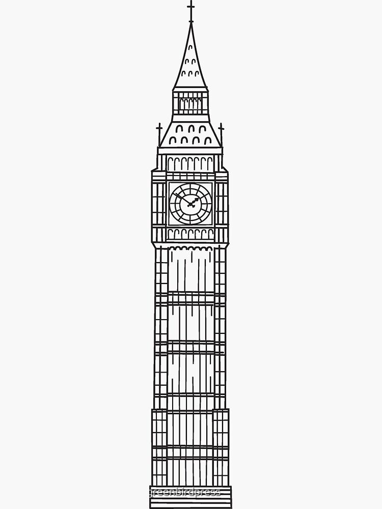 Bocetos de Londres - Big Ben de greenbirdpress