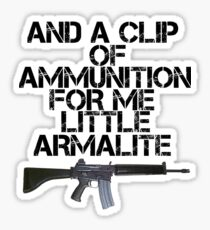 Me little Armalite Sticker