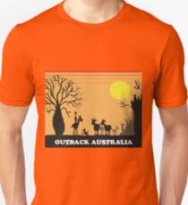 Aussie outback with boab tree and stockman design T-Shirt