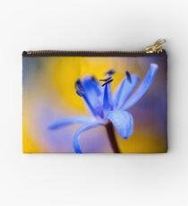 Blue romantic flower Studio Pouch