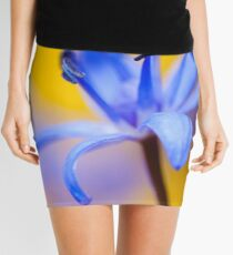 Blue romantic flower Mini Skirt