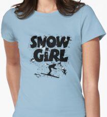 Snowgirl Ski Retro Women's Fitted T-Shirt