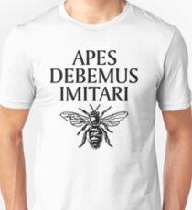 Apes Debemus Imitari Beekeeper Quote Unisex T-Shirt