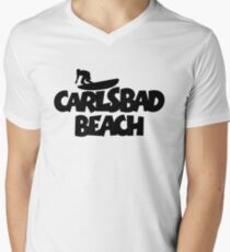 Carlsbad Beach Surfing Men's V-Neck T-Shirt